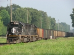 IC 1028 backing coal loads to Cook Coal Terminal